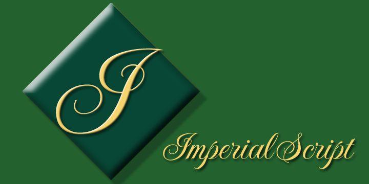 Imperial script desktop font myfonts