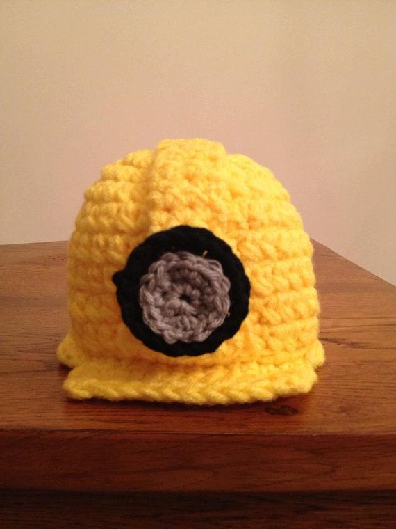 Crocheting Is Hard : Crocheted Construction Hard Hat by threelittlegiggles on Etsy
