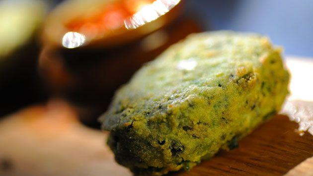 Fava Bean Falafel. Get the recipe >> http://www.cooktasteeat.com/dish ...
