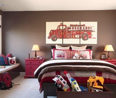 fire truck themed bedroom kids rooms pinterest