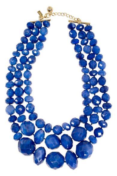 Dazzling Blue Necklace #pantone #dazzlingblue #wedding #bbjlinen #bbjtablefashions   Dazzling Blue Inspiration Board   Dazzling Blue Weddings in Hawaii planned by Hawaii Weddings by Tori Rogers http://www.hawaiianweddings.net