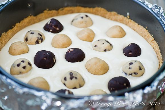 Cookie Dough Mosaic Cheesecake from Bunkycooks