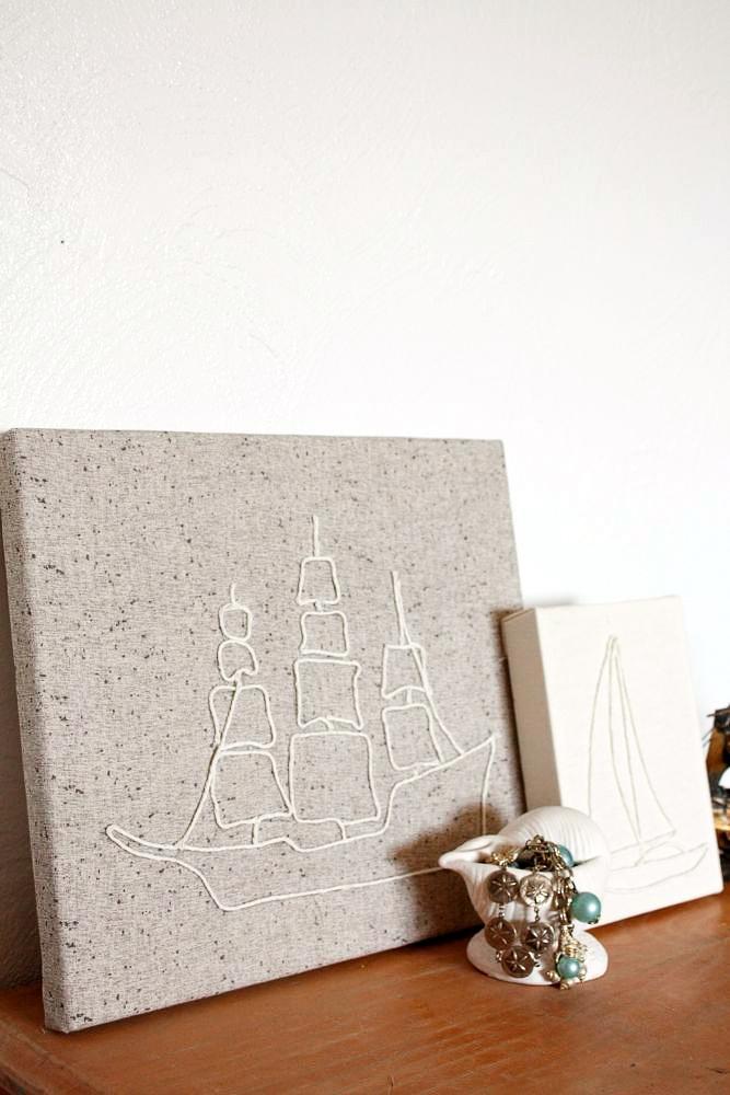 DIY: string art canvas