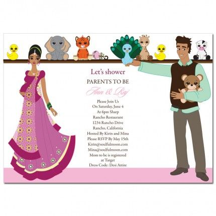 indian baby shower invitations from soulfulmoon the cute couple 39 s