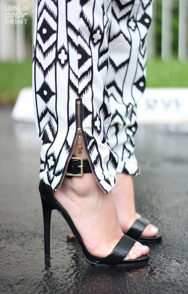Party Pants + Sandal Heels