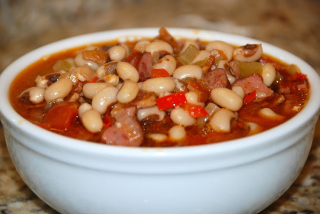 Copper Lantern Cooking - SPICY BLACK EYED PEAS WITH SMOKED SAUSAGE # ...
