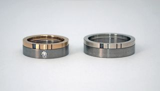 His Hers 39 Stacked 39 Wedding Ring Set My Kids Are Too Young P
