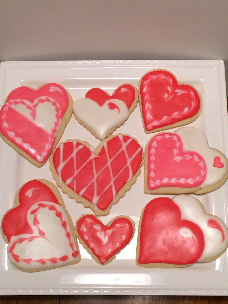 Valentines Sugar cookies.2014