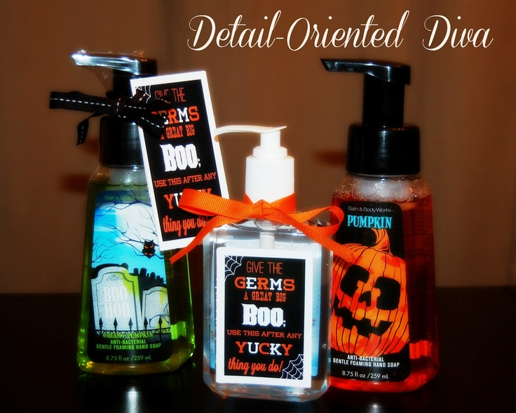 Detail-Oriented Diva!: Halloween Handwashing Printable Decor or Gift - LOVE!