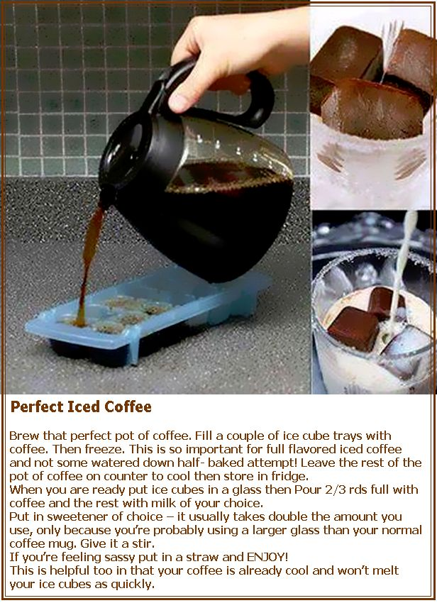 Perfect Iced Coffee | Yummy in my Tummy | Pinterest
