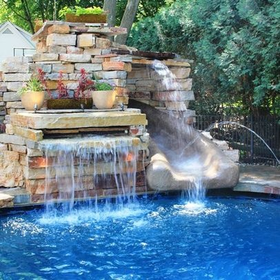Cool water feature no slide cool swimming pools pinterest - Cool indoor pools with slides ...