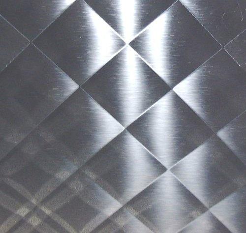 quilted mirror stainless steel 23x29 new backsplash art metal ebay