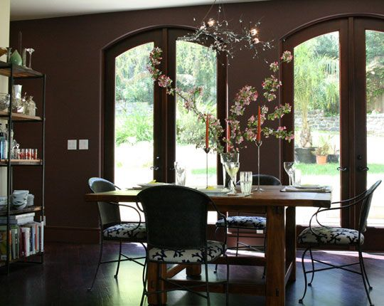 Brown accent wall for dining room decorating ideas pinterest - Dining room accent walls ...