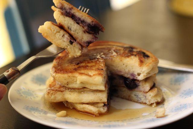 Blueberry Lemon Cream Cheese Pancakes | Lucy's Ways | Pinterest