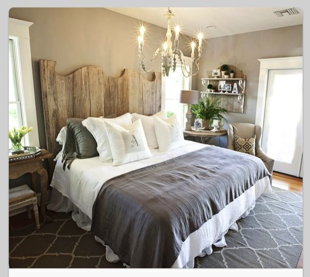 rustic chic bedroom shabby pinterest