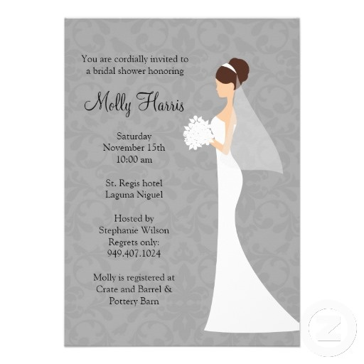 Bridal Shower Invitation with Matching Envelopes