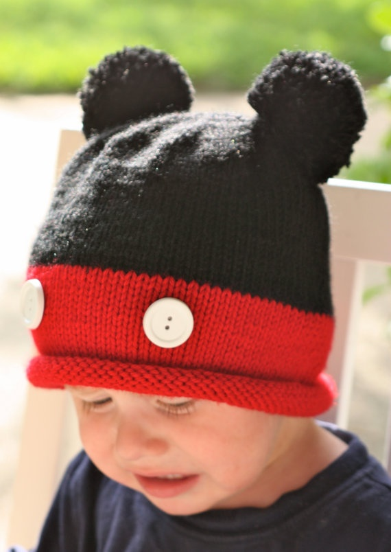 Mickey Mouse Knitted Hat Pattern : Knit Mickey Hat Loom Joy Studio Design Gallery - Best Design