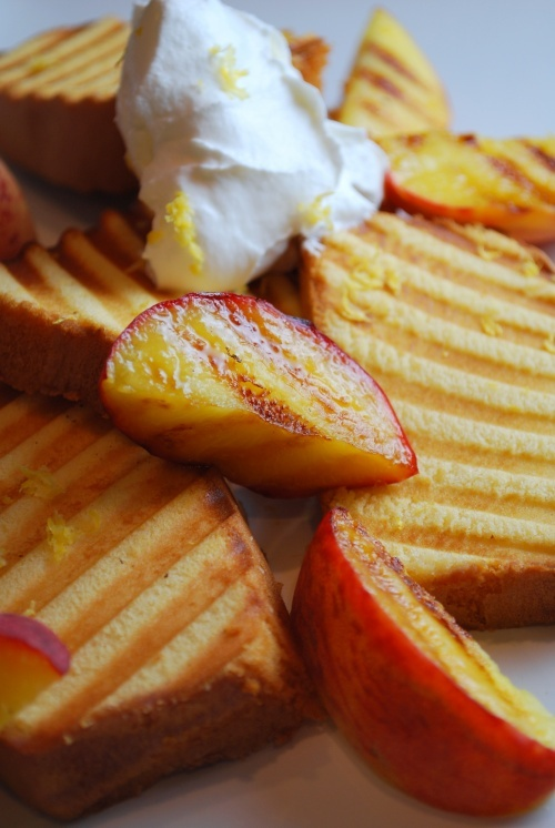 Grilled Lemon Pound Cake with Peaches and Cream, recipe courtesy Food ...