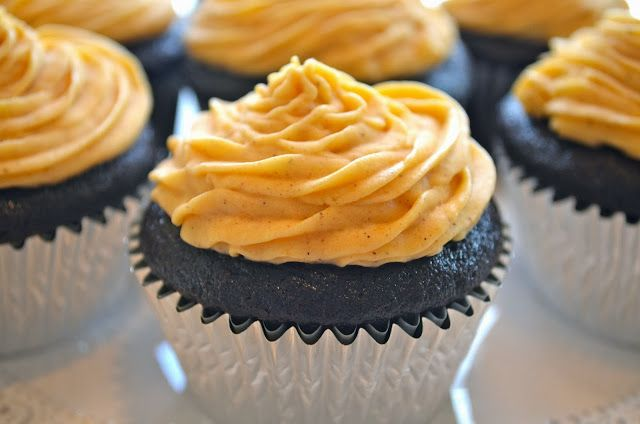 Pumpkin Mocha Cupcakes from Butter With You!