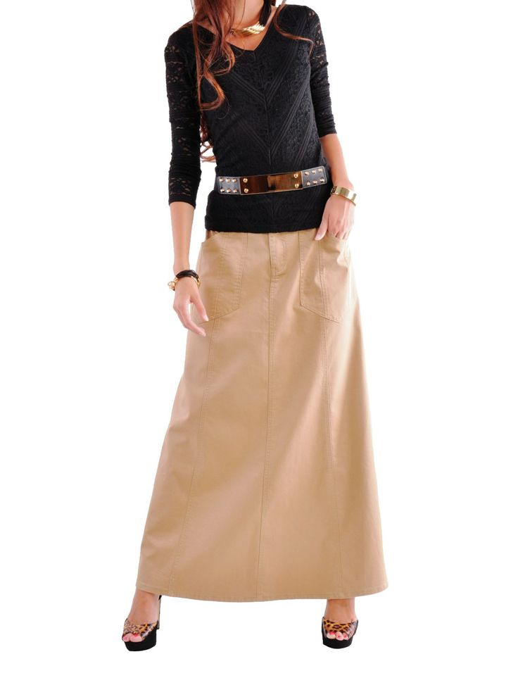 Khaki Twill Skirt 7