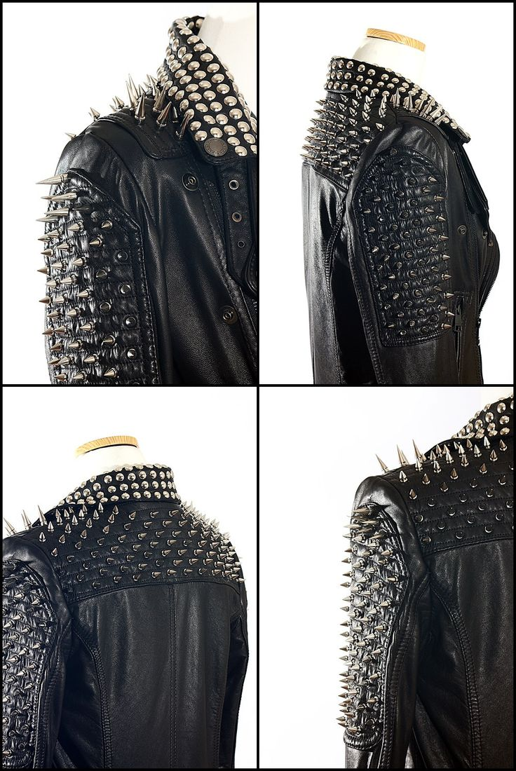 Metal leather jacket