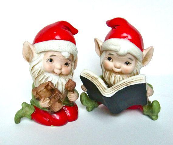 porcelain christmas elf dolls