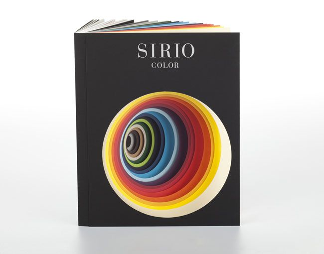 The Sirio book was conceived as both a visual experience and complete working/specifying tool. Taking influence from Chevreul's theory of simultaneous colour contrast, every turn of the page reveals a unique interplay between a number of coloured sheets through its multiple apertures. The sum of all of these combinations suggests a new way to use the breadth and depth of the Sirio range.