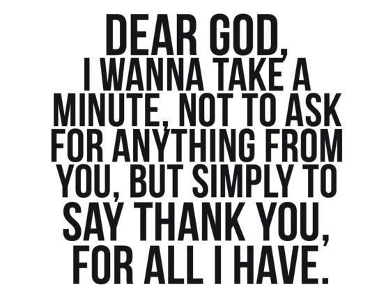 Dear God...thank you