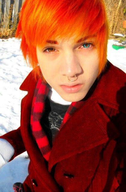 Orange | Emo/scene Boys Hair | Pinterest