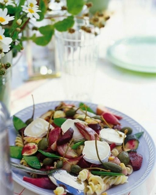 SweetPaulMag.com: Pasta Salad with Roasted Beets and Chevre