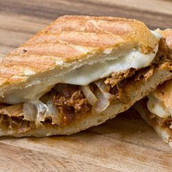 Pulled BBQ Chicken Panini, with fresh mozzarella and caramelized ...