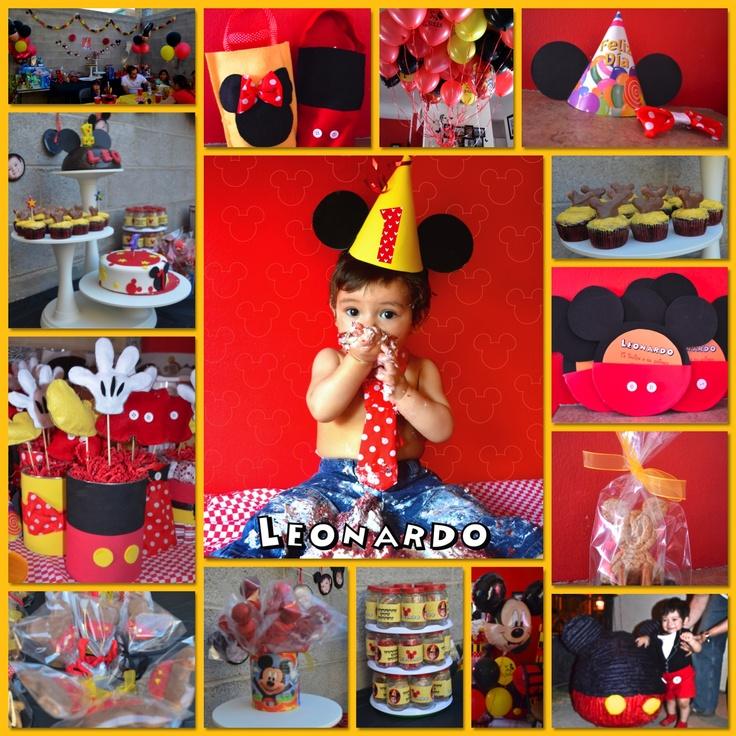 Fiesta de mickey mouse primer a o fiestas pinterest - Fiesta cumpleanos 1 ano ...