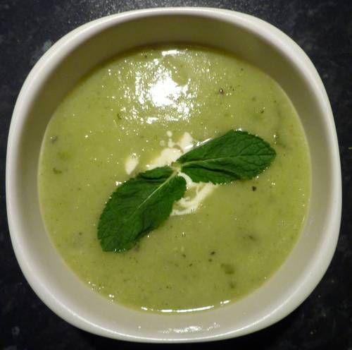 real Pea-Souper! Pea, Potato, Leek & Mint soup - vegan - COOKING ...