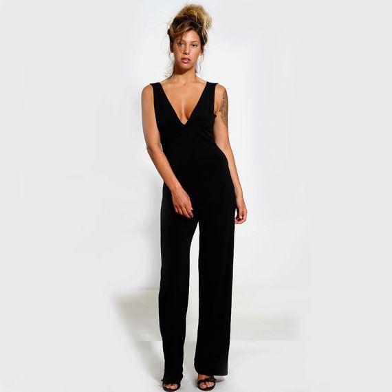 Simple Diane Von Furstenberg Margot Crepe Wrap Jumpsuit In Black  Lyst