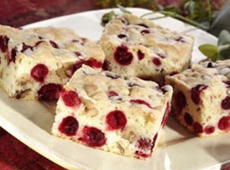 Cranberry Nut Bars | Holiday Baking with Diamond Nuts | Pinterest