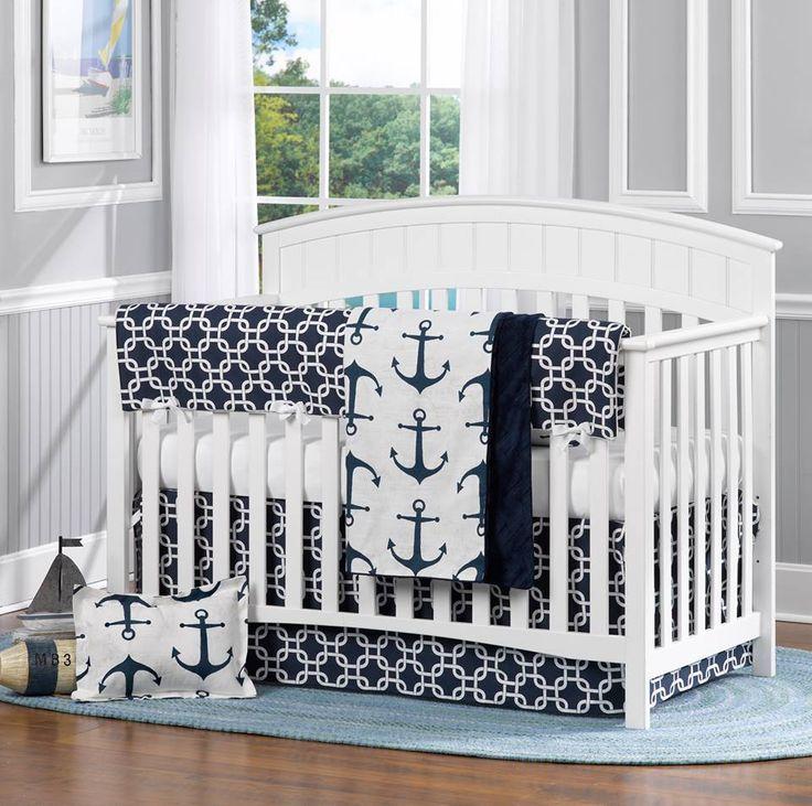 Crib Bedding Lizroo Nautical Sku Baby Nursery Pinterest