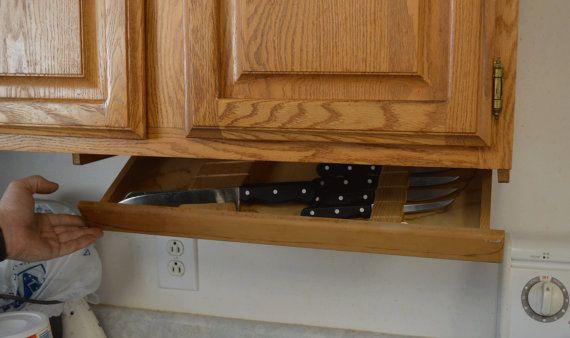 Under cabinet knife drawer for Under cabinet knife drawer