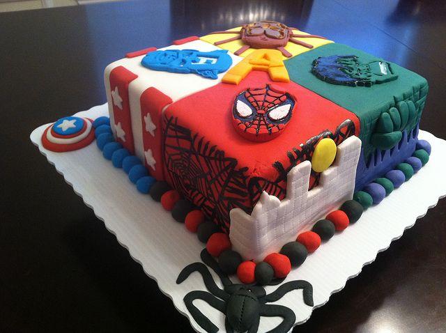 Super Hero cake , advengers cake, via Flickr.