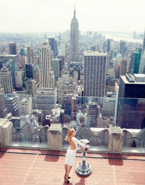 I heart New York.  Top of the Rock facing the Empire State Building.  Best view of the city.