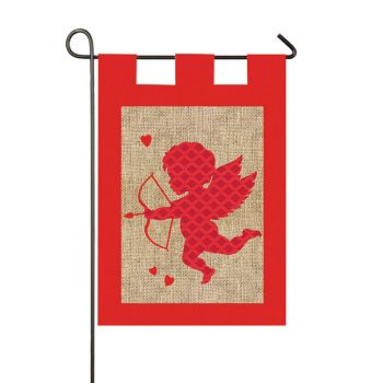 valentine's day garden flags