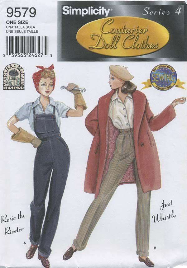 Pin by Carolyn Katsilas on Vintage Doll Clothes Patterns | Pinterest