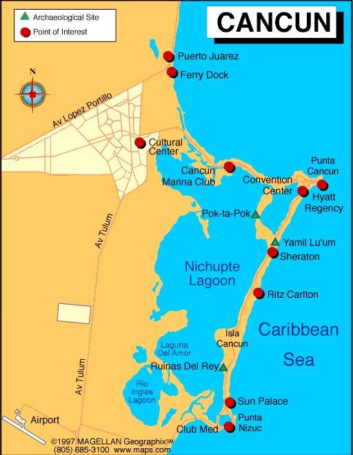 Cancun Mexico Map Google Search Bucket List Pinterest