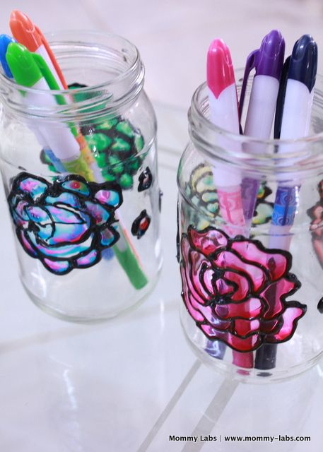 hand painted glass bottles and jars mastercrafter