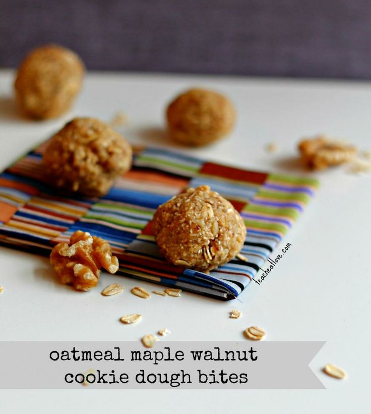 Oatmeal Maple Walnut Cookie Dough Bites! (healthy AND no bake!). 3 ...