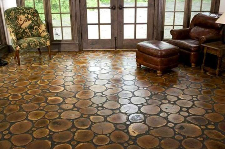 Cordwood Floor Self Sufficient Lifestyle Pinterest