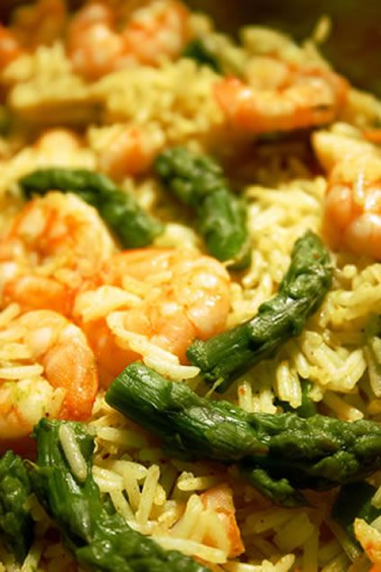 Shrimp and Asparagus and Rice Salad | get in my belly | Pinterest