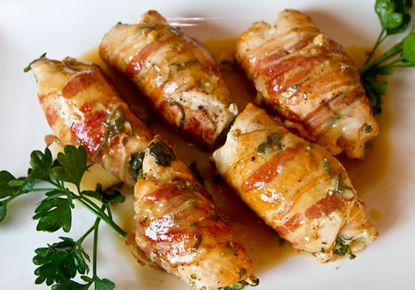 Chicken Wrapped In Pancetta And Sage Recipe — Dishmaps