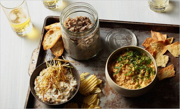 This article by Mark Bittman was about dips. I hope to try the recipes some day in the future. I'm also starting to get into Mark Bittman's cookbooks, as per recommendation of a friend. This picture is a perfect example of how food looks better when presented and stored in a jar...or at least, I think so about the jar.