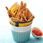 Baked Zucchini Fries with Tomato Coulis Dipping Sauce | Recipe