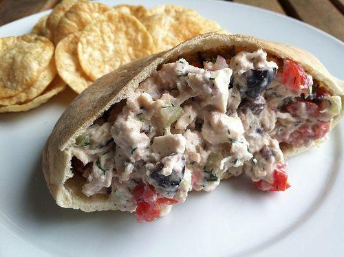 Greek Chicken Salad Sandwiches | Yummy! | Pinterest